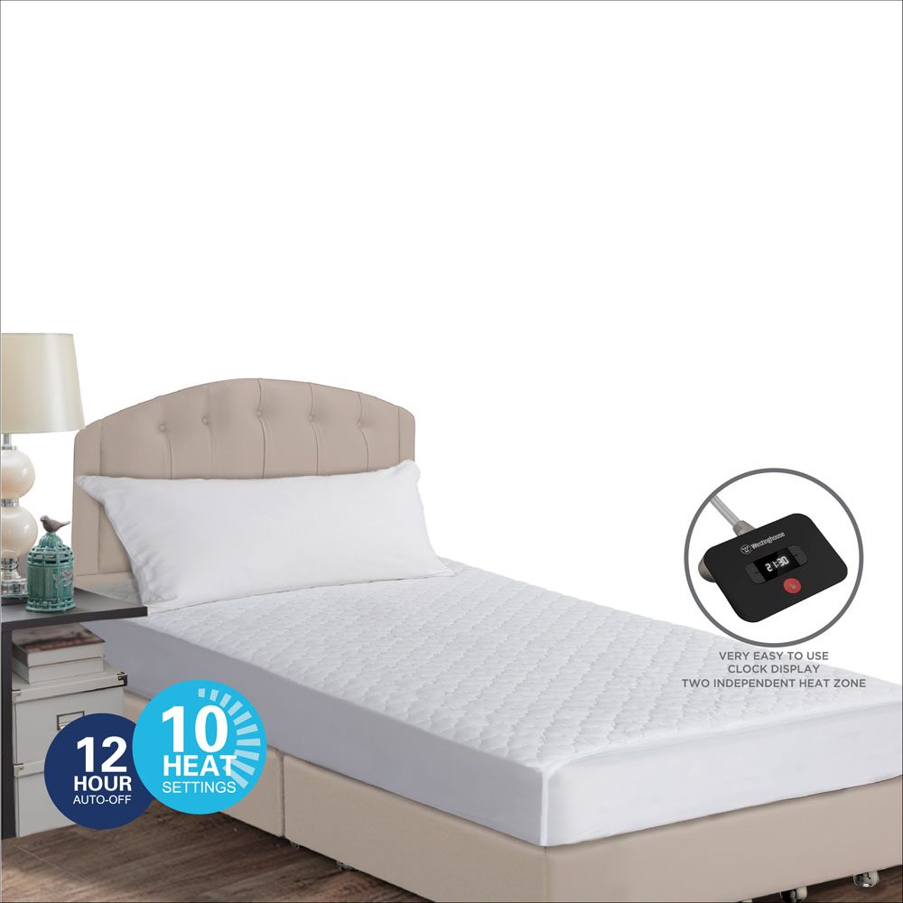 PINSONIC QUILTED KNIT HEATED  MATTRESS PAD